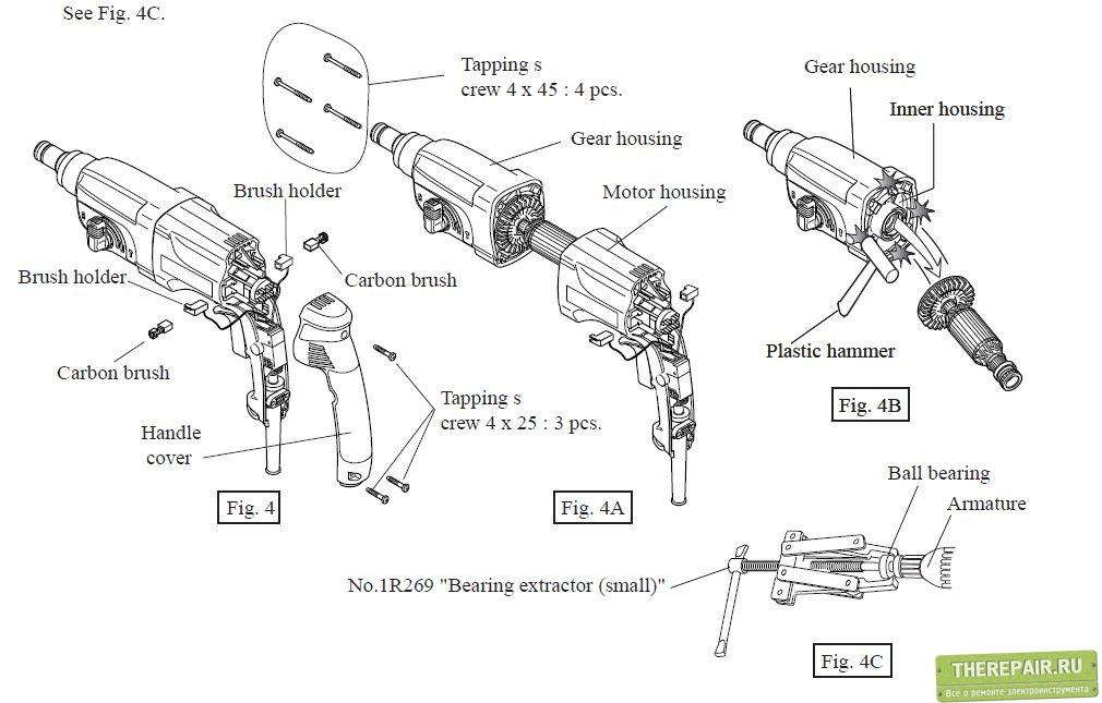 Ремонтируем перфоратор своими руками: что делать, если перестал бить, как разобрать, поменять патрон и так далее + видео