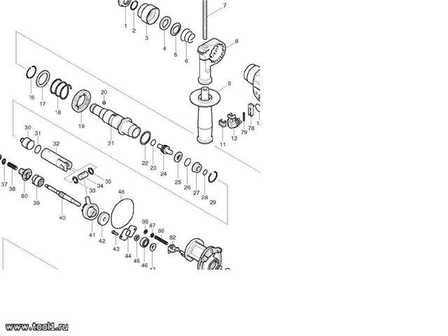 Принципиальная электрическая схема перфоратора