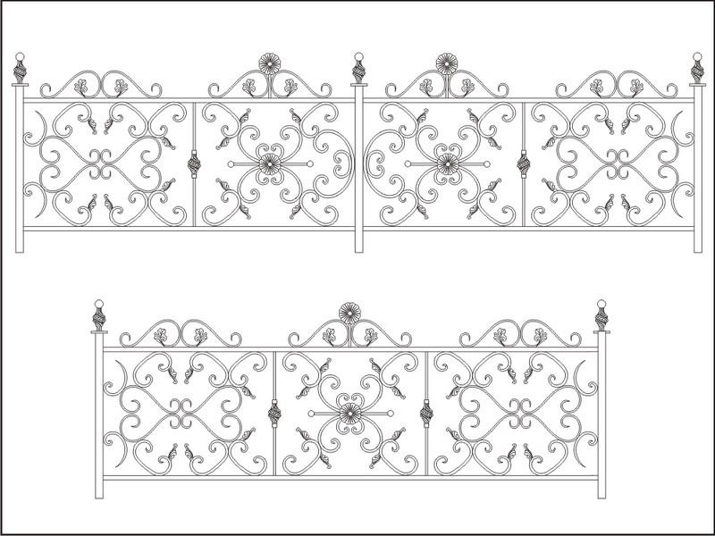 Рисунки кованых узоров для орнамента изделий