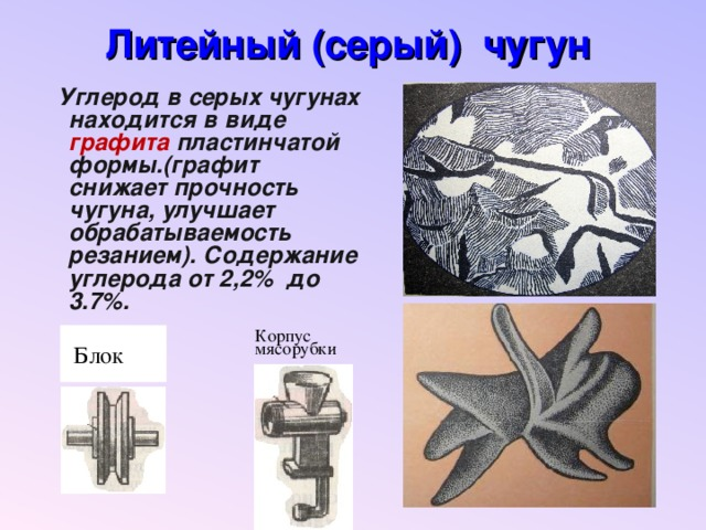 Ковкий чугун: серый высокопрочный чугун и его применение