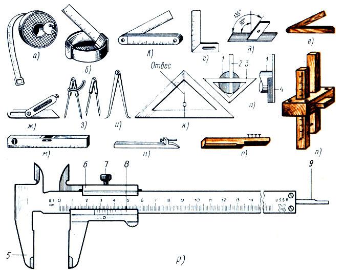 Разметочные инструменты и приспособления. работы по металлу