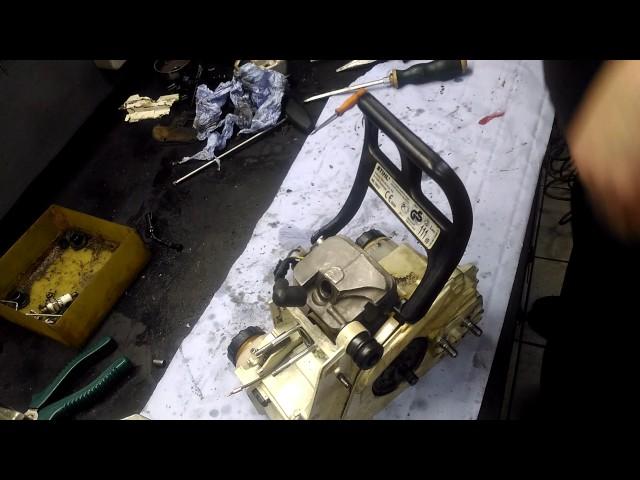 Замена масляного шланга бензопилы штиль мс 180