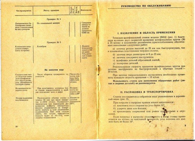 Технический паспорт точильно-шлифовального станка 3к634
