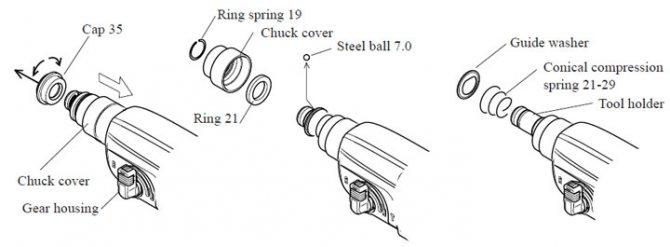 Как разобрать перфоратор макита своими руками, схема сборки модели 2450