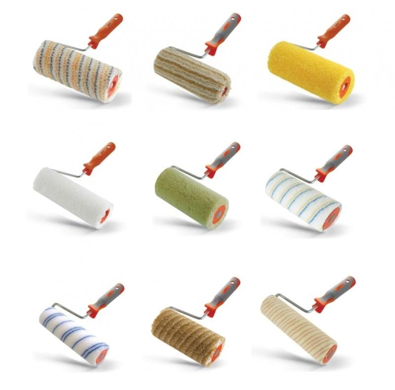 Валик малярный, виды валиков, валик для покраски стен, для чего нужен валик