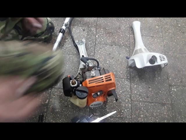 Stihl fs 55 как установить катушку с леской на триммер