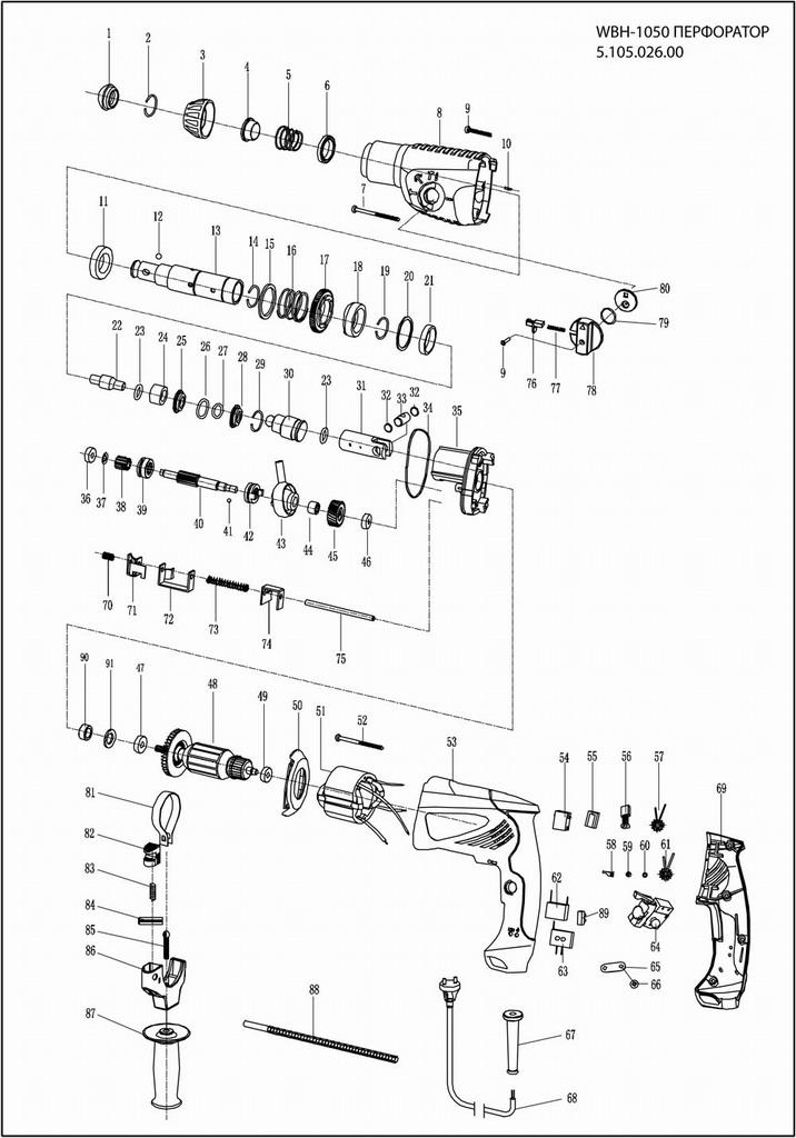 Подключение кнопки дрели - подробная схема