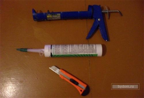 Как пользоваться пистолетом для герметика в тубах