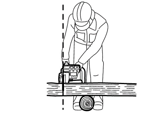 Правила работы бензопилой