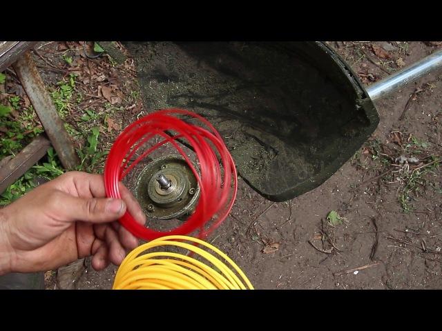 Как вставить леску в автоматическую катушку триммера