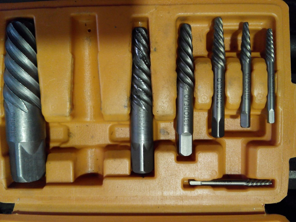 Как пользоваться экстрактором или учимся правильно выкручивать сломанные болты – мои инструменты