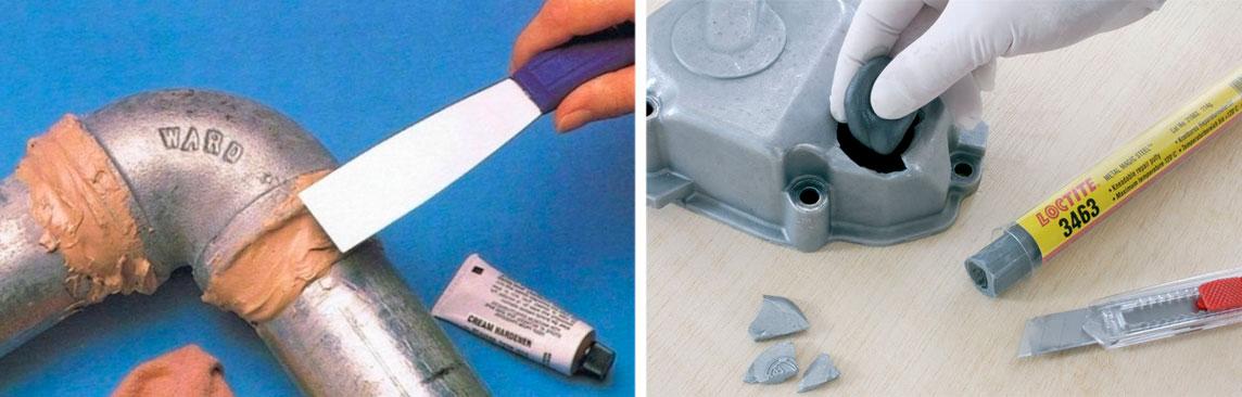 Холодная сварка и ее виды: жидкая, пластилинообразная, для металла, линолеума, пластика и бетона