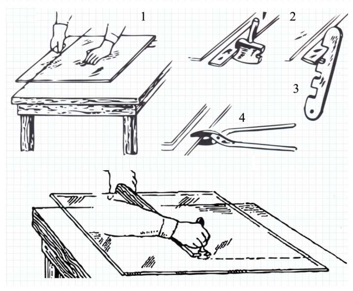 Основные способы разрезания стекла: со стеклорезом и без него