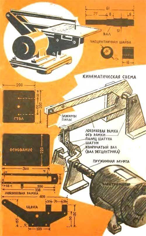 ✅ самодельный станок из электролобзика. схемы, чертежи, видео - спецтехника52.рф