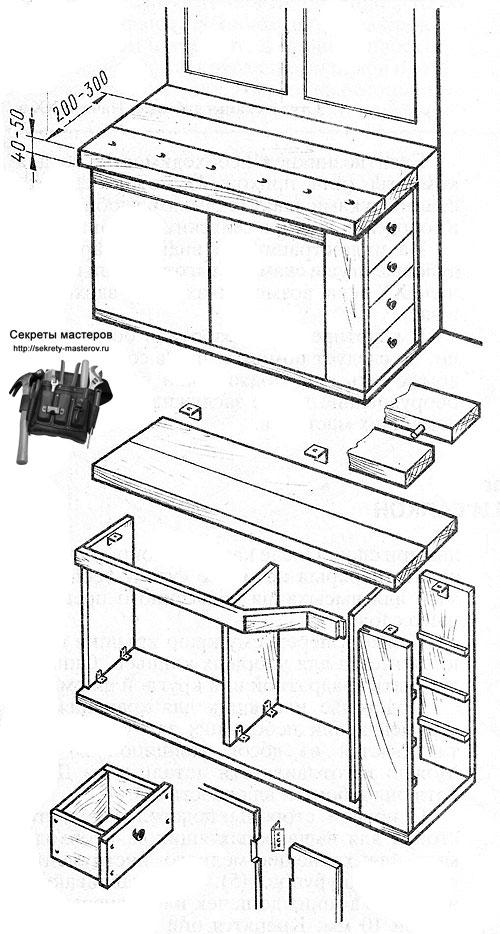 Столярный верстак своими руками - инструкция, чертежи и размеры