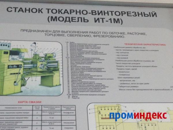 Токарный станок ит1м технические характеристики