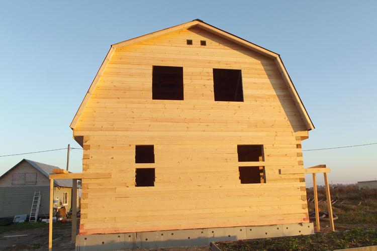Дом из бруса под усадку
