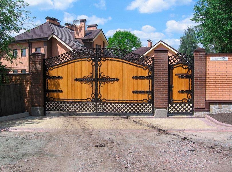Кованые ворота: фото готовых, изготовление своими руками