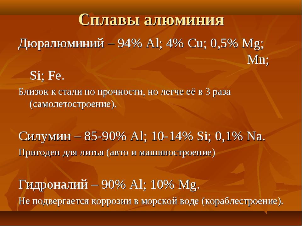 Свойства и состав дюралюминия, области его применения, температура плавления и другие характеристики