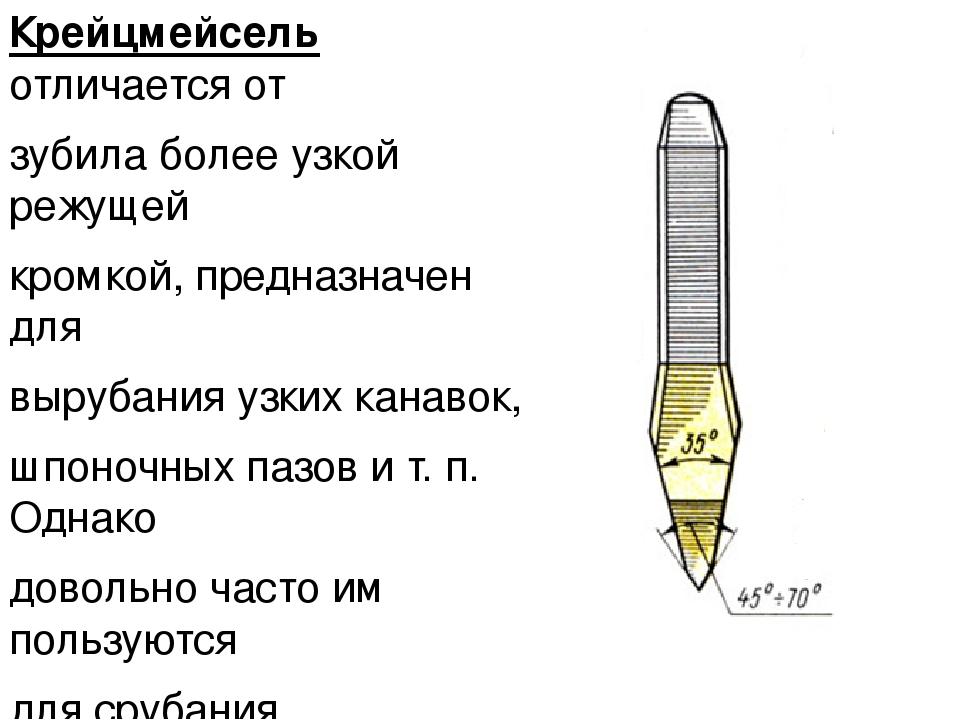 Слесарное зубило: основные части, устройство, назначение: гост, устройство, характеристики, виды