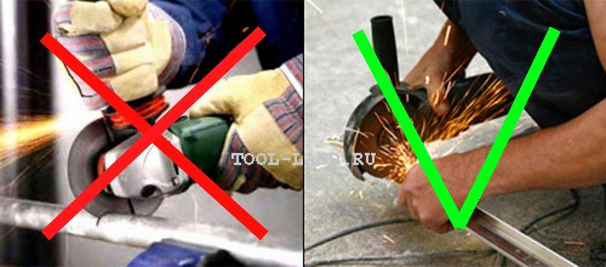 Как правильно работать болгаркой: при резке металла и других материалов