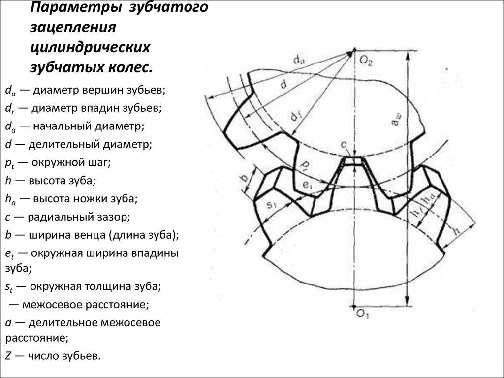 Виды зубчатых колес, шестерен