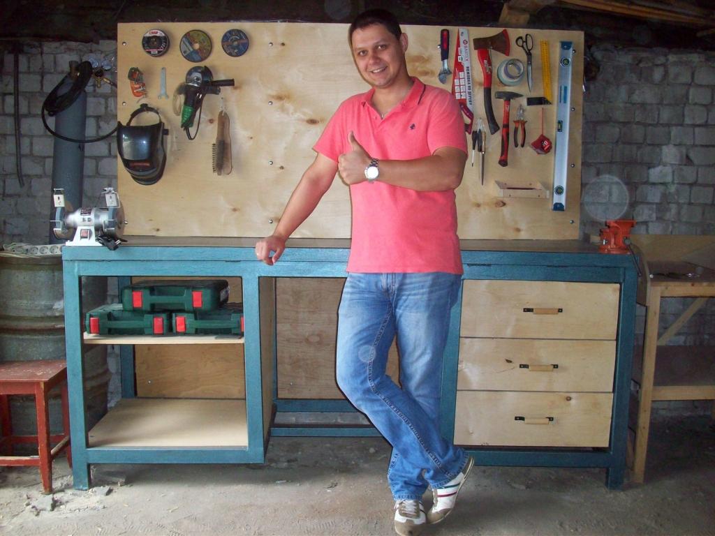 Как сделать верстак в гараж своими руками?