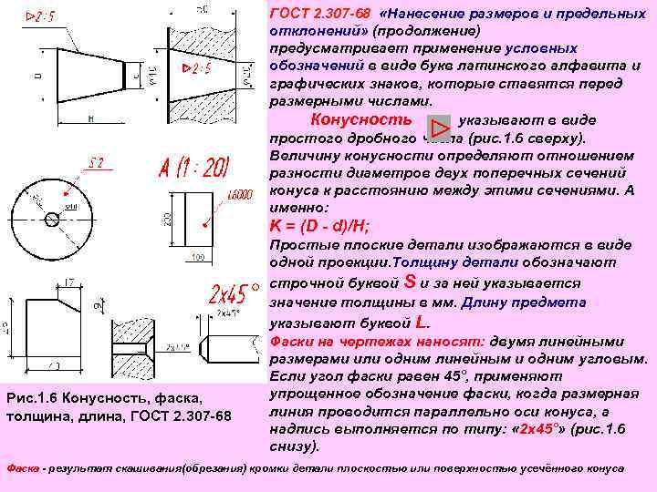 Основные правила нанесения размеров на чертеже