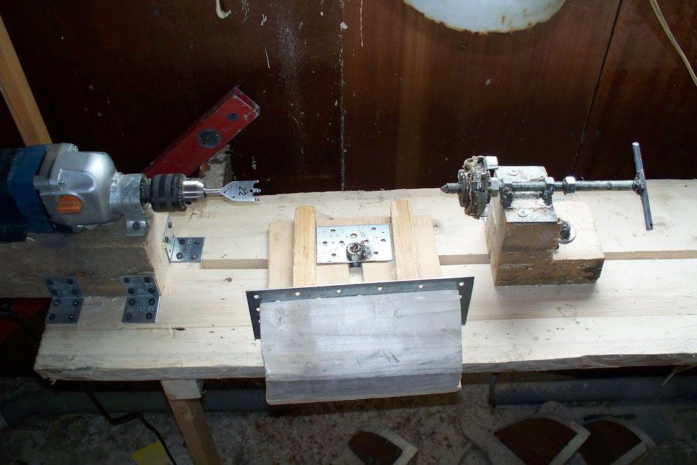 Как сделать токарный станок из шуруповерта своими руками