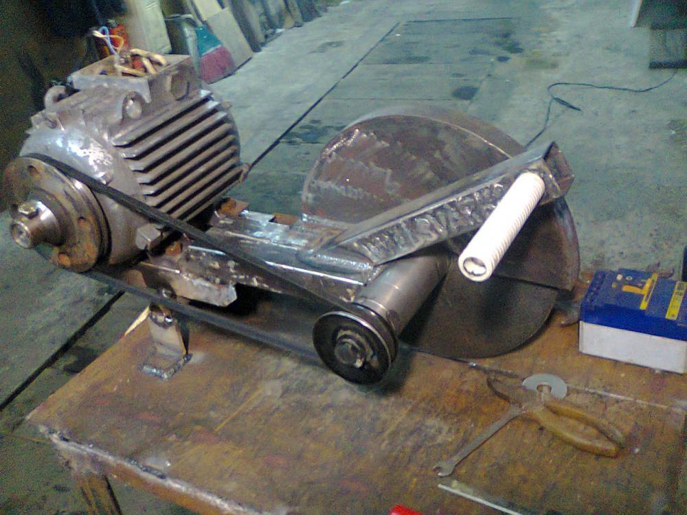 Отрезной станок по металлу своими руками: чертежи, технология создания