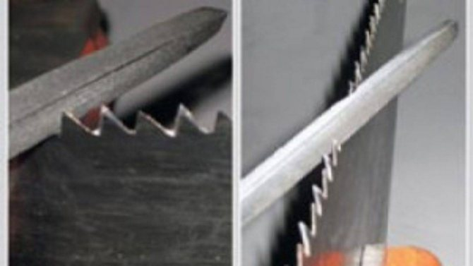 Наточить ножовку по дереву с мелким зубом