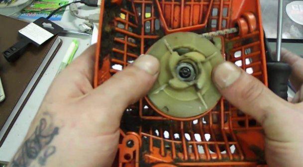 Пила штиль ремонт стартера