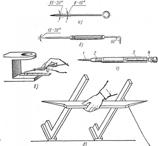 Какие инструменты применяются при разметке