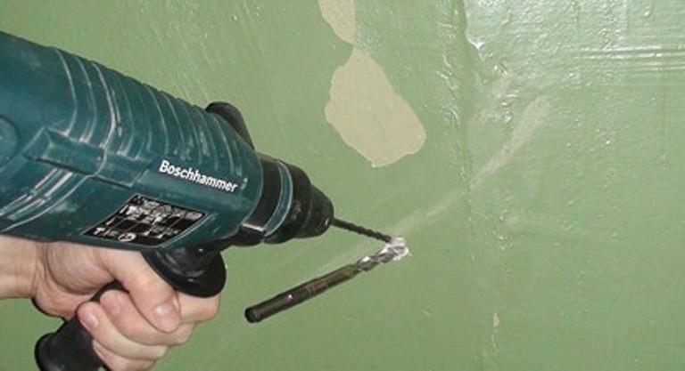 Технология сверления бетонной стены без перфоратора