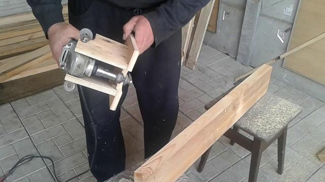 Как сделать ручной фрезер из болгарки своими руками