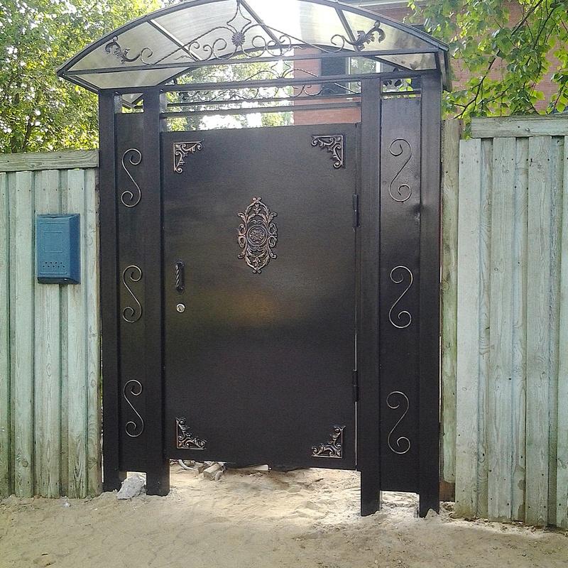 Кованные ворота своими руками. +259 фото. мастер классы