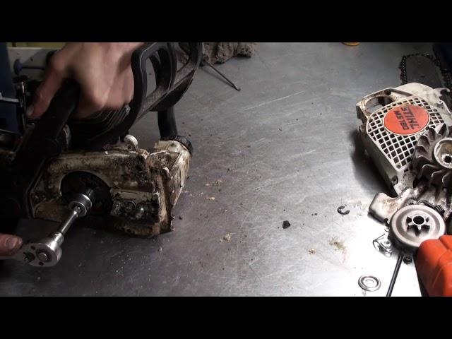 Замена поршневой на бензопиле stihl 180