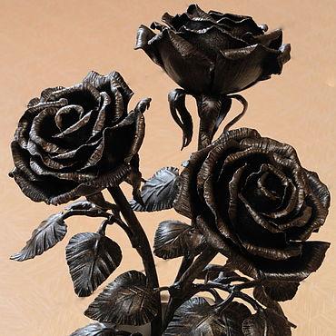 Кованые цветы, кованые розы из металла купить