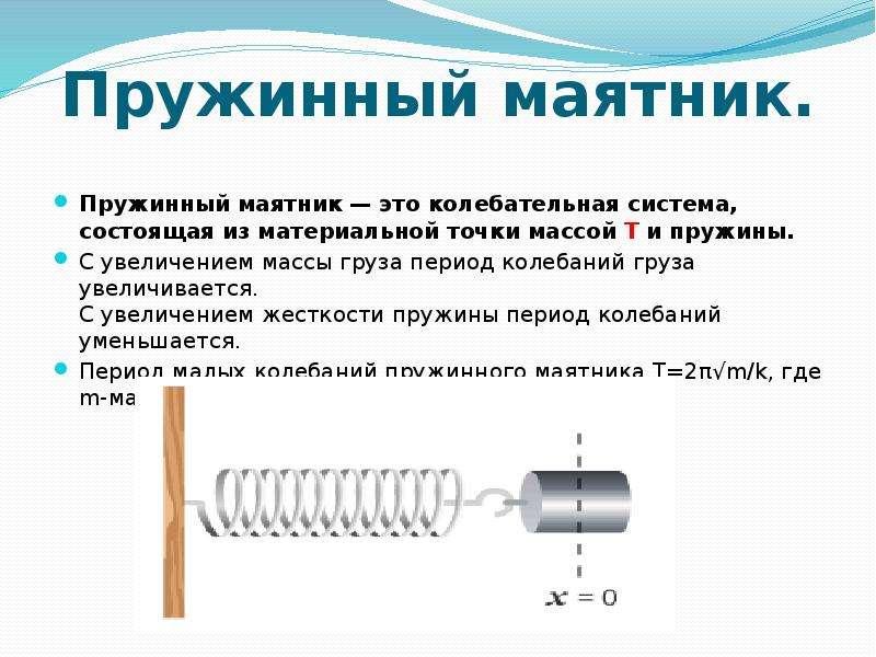 Механические колебания   механика   теория   решутест. продвинутый тренажёр тестов