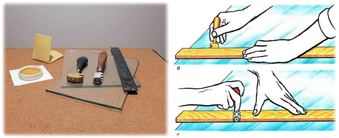 Как правильно резать стекло стеклорезом в домашних условиях? | строительные материалы