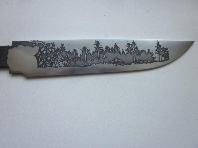 ???? нанесение и травление узора на стальном ноже: пошаговая инструкция