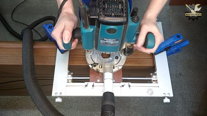 Шаблоны для врезки петель: модели для установки мебельных петель фрезером, использование приспособлений для дверных петель