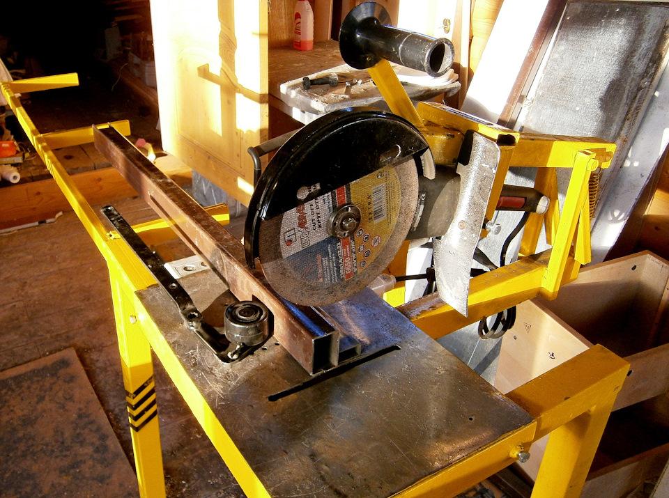 Что нужно для изготовления самодельного отрезного станка по металлу