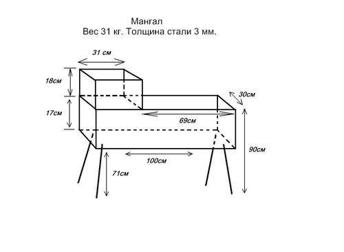 Разборный мангал своими руками (47 фото): чертеж складного, как сделать раскладной, сборный самодельный переносной мангал на природу