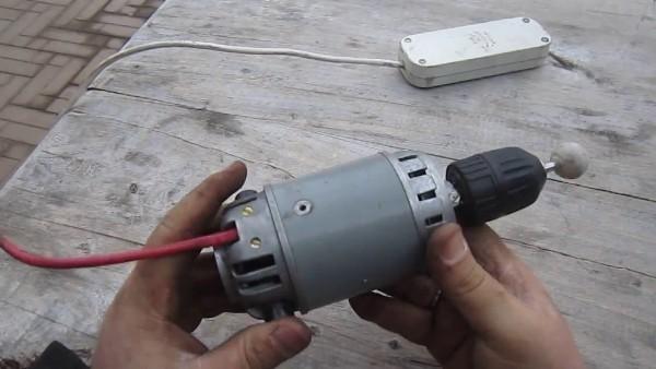 Как сделать ручную маленькую электродрель в домашних условиях