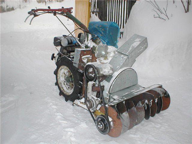 Культиватор снегоуборщик два в одном, как сделать своими руками