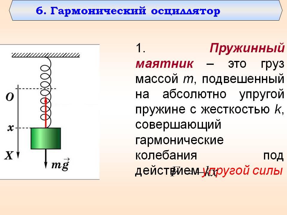 Формула частоты колебаний пружинного маятника в физике