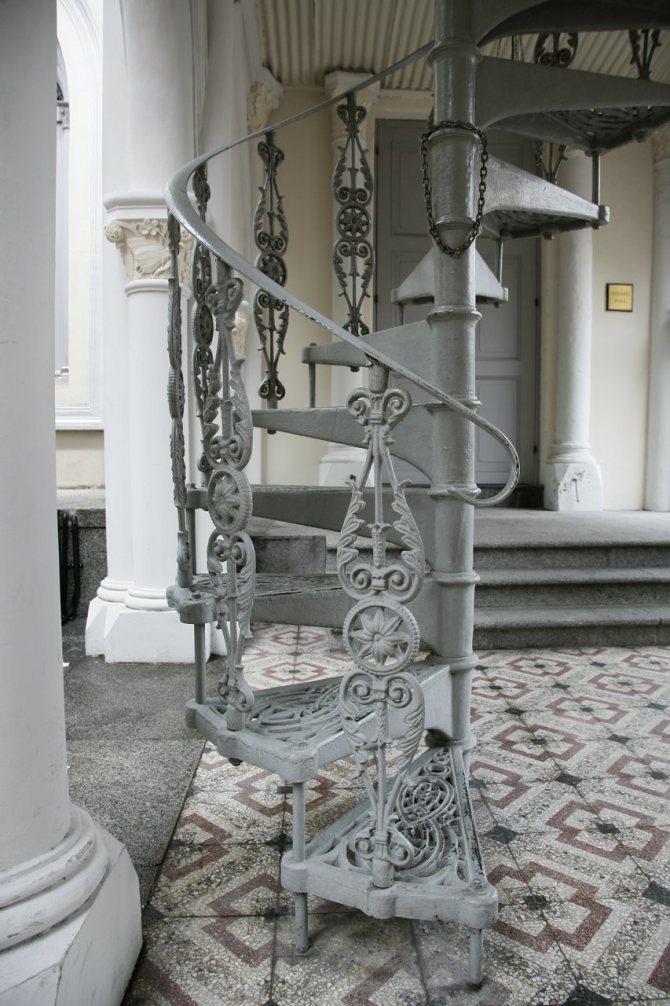 Кованые лестницы (46 фото) - винтовые, забежные, радиальные