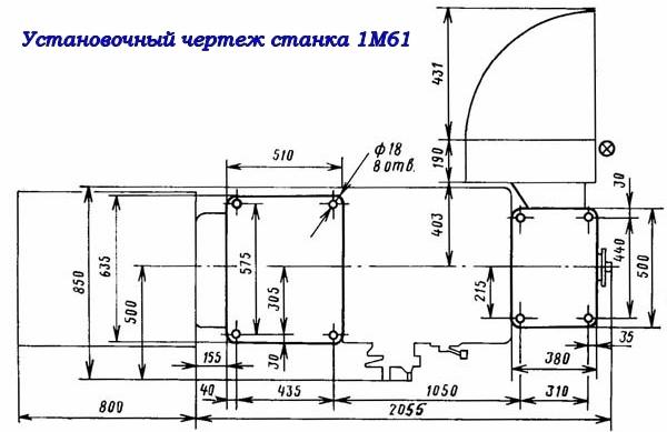 Подробный обзор токарно-винторезного станка 1м61