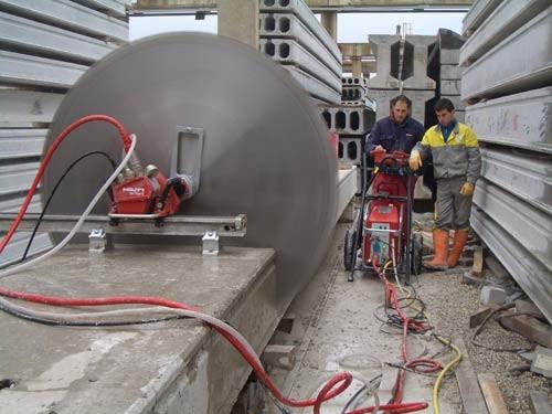 Резка бетона алмазным канатом или тросом